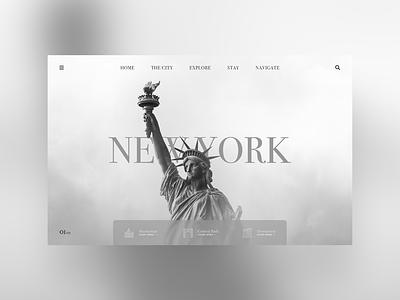 New York new york city statue of liberty new york ui designer web design daily ui clean ui simple minimal ux design user interface modern dailyui ui design