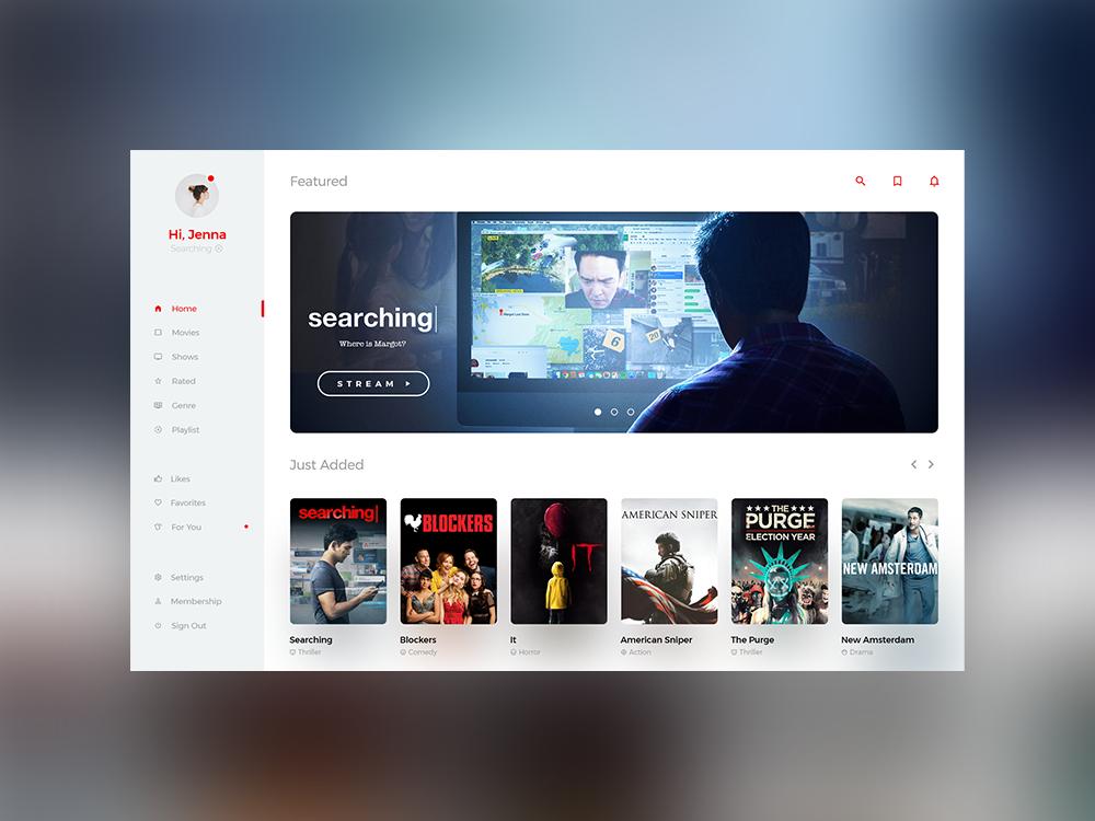Movie UI 🍿 design ui designer web design simple minimal modern user interface dailyui movie app movie ui ui design ui movie