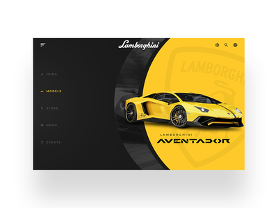 Lamborghini UI daily ui simple minimal design clean web design ui designer modern ux design user interface dailyui ui design ui web lamborghini