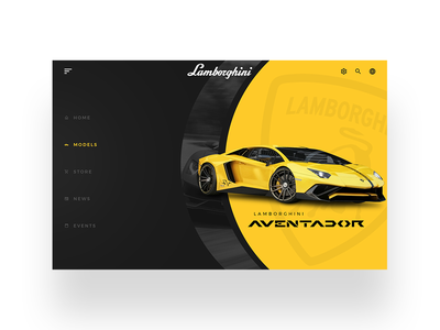 Lamborghini UI daily ui simple minimal design clean web design ui designer modern ux design user interface dailyui ui design ui web lamborghini