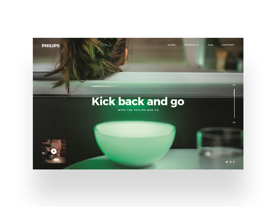 Philips Hue UI led lights philips hue daily ui social media minimal ui simple ui designer design challenge ux design modern user interface dailyui ui design