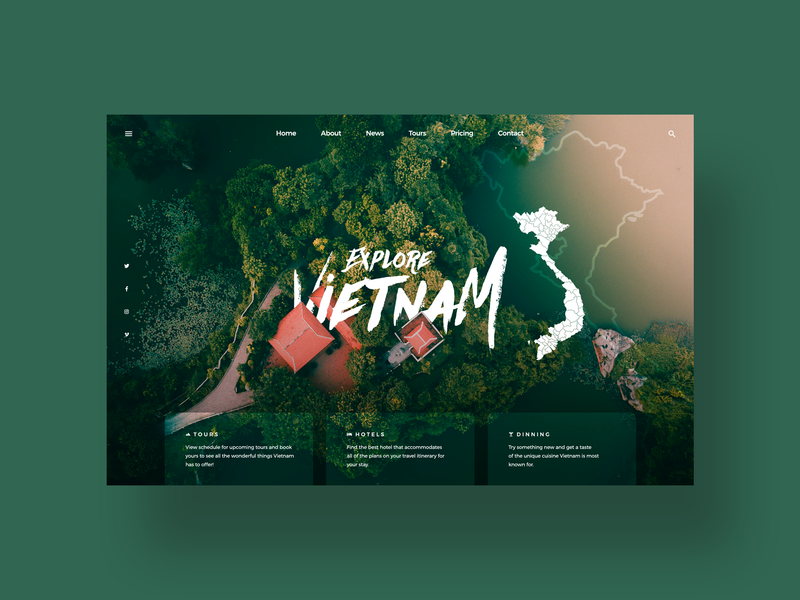Vietnam UI adventure explore instagram clean daily ui social media design ui designer simple ui modern web design travel vietnam minimal ux design user interface dailyui ui design