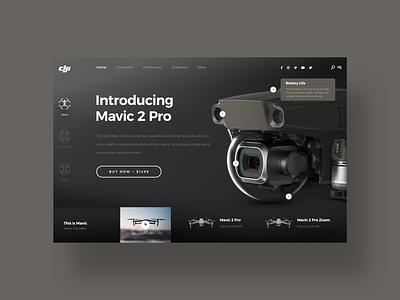 DJI Mavic 2 Pro UI design challenge ui designer design social media daily ui clean web design simple ui dji mavic drone dji minimal ux design modern user interface dailyui ui design