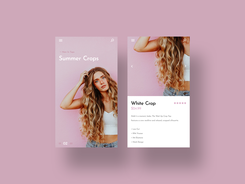 Fashion App instagram design daily ui clean web design simple ui ui designer fashion app fashion minimal ux design modern user interface dailyui ui design