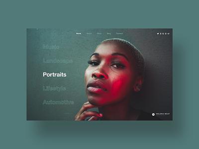 Minimal Portfolio clean design challenge daily ui ui designer ui web design simple minimal ux design modern user interface dailyui ui design