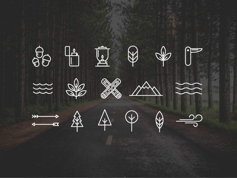 Free Wilderness/Camping Icons download nature wilderness camping freebies free icons