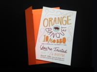 Orange Banquet Invitation