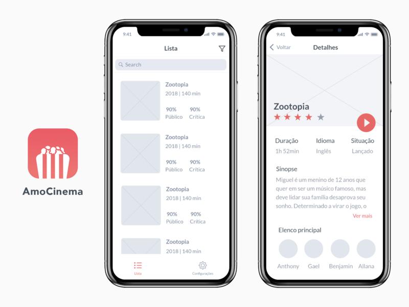 Movies App UI movie app movie cinema ux ui mobile wireframe mockup app