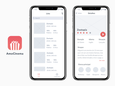 Movies App UI movie app movie cinema ux ui mobile wireframe mockup app