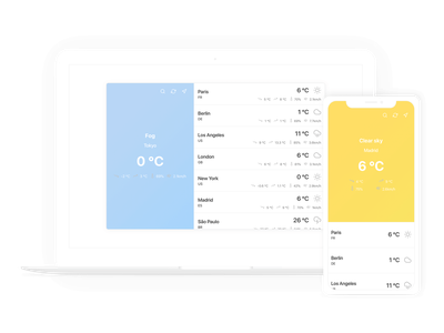 Weather App ux app mobile web mockup ui wireframe responsive