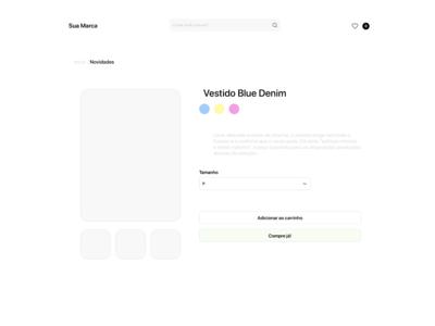 Shop Product Detail Web Page