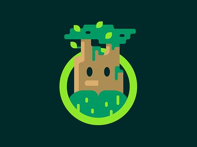 Druid vector illustration design green fantasy character druid