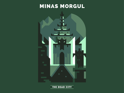Minas Morgul illustrator vector design illustration evil fantasy lord of the rings minas morgul