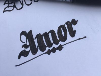 Amor lettering