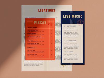 Collateral Design branding collateral menu