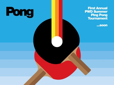 Pong Tourney Poster ping pong pong posters funzies sport bold
