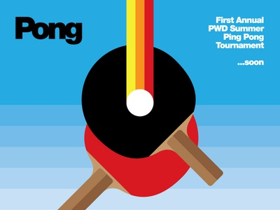 Pong Tourney Poster