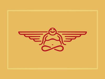Fly Buddha buddha fly wings floating peaceful smile cross-leg infinity
