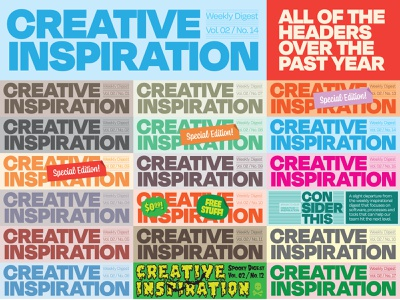 Creative Inspiration Weekly Digest email typography design bold illustration