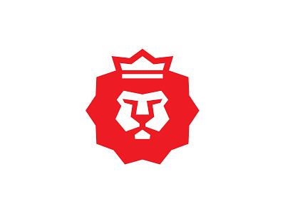 More Lion lion logo crown bold heavy simple geometric