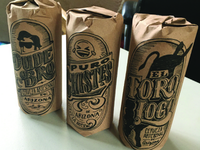 Handmade beer packaging for gifts handmade label design packaging typography lettering