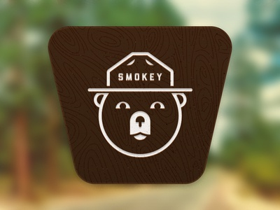 Smokey One Color Sign