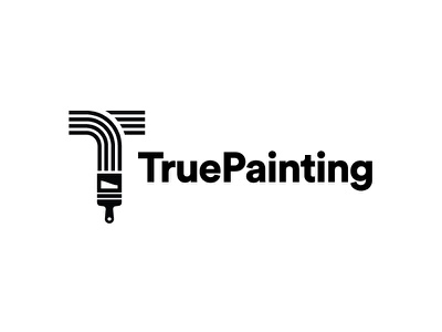 True Painting Logo Concept stroke lines paint brush painting