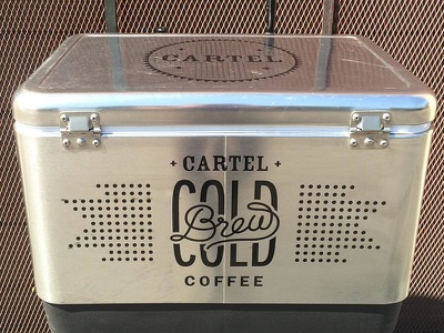 Cartel Cold Brew Cooler get some cool stuff logo lettering coffee cooler cold brew cartel