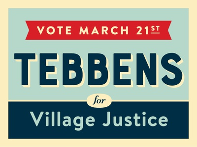 Tebbens Yard Sign