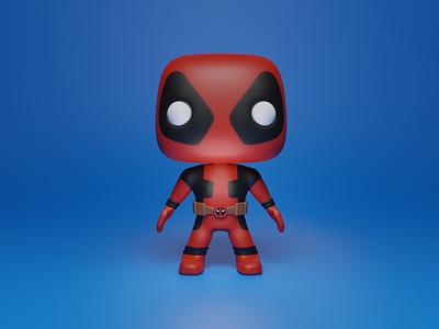 Deadpool 3d modeling
