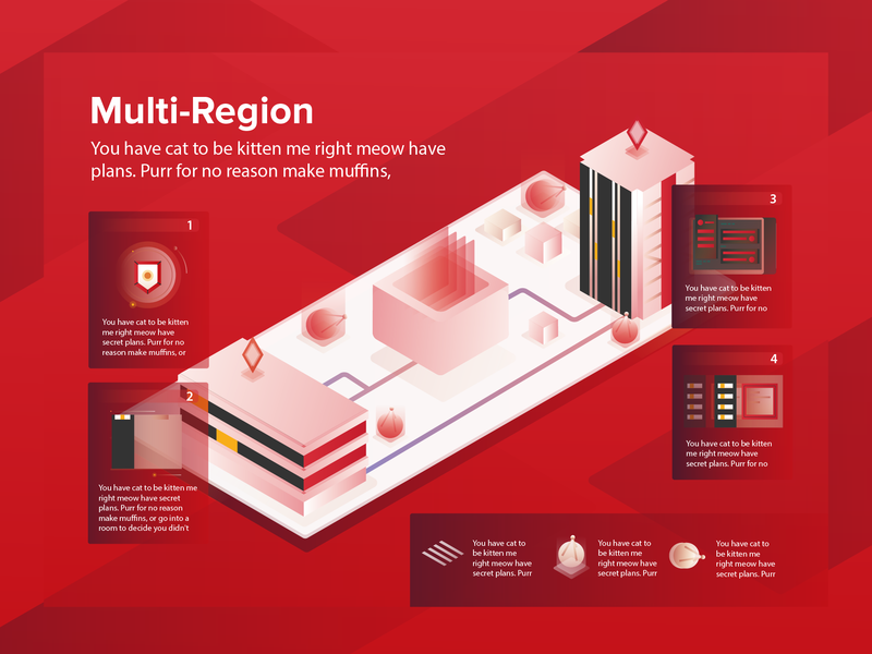 Multi Region red ui server region network multi region illustration icon design data center data cloud computing cloud hosting cloud apps