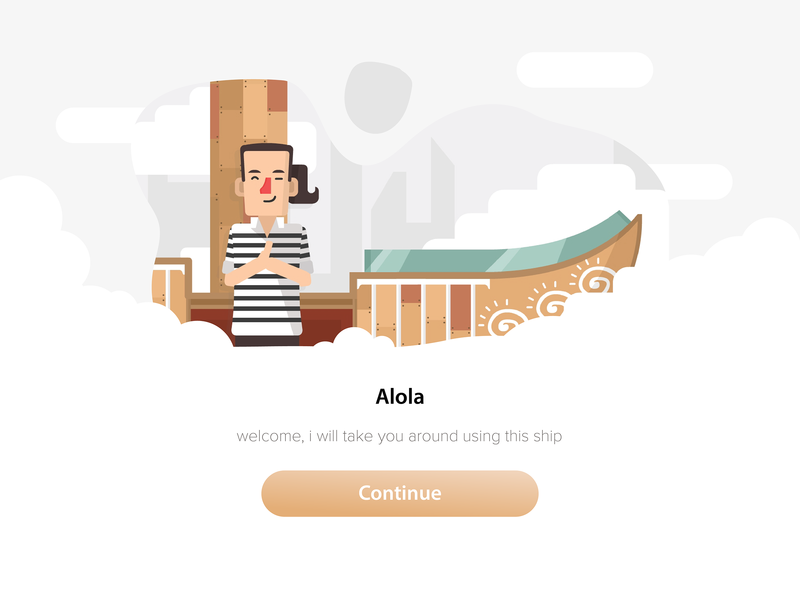 hello illustration ship cloud apps uidesign uid illustration greeting hello