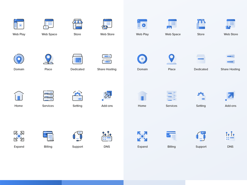 Web Icon exploration blue cloud hosting web network icon illustration apps design ui