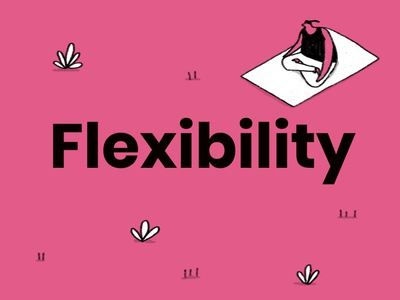 Flexibility - Giffgaff pink colourful fun illustration identity giffgaff phones yoga character design flexibility