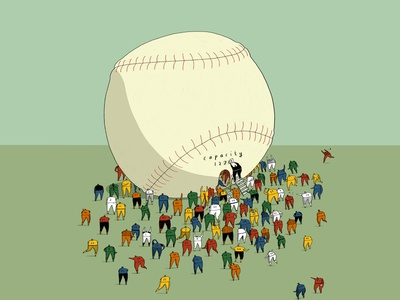 Bursting at the Seems - NYT max capacity editorial nyt new york times sports illustration sports mlb baseball