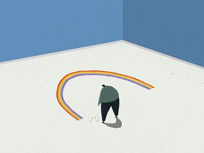 A Brighter Future future bright happy optimistic brighter future rainbow illustration
