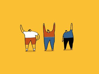 Waving Mates illustration fun pdf powerpoint google slides fun presentation presentation images deck presentation greetings hello cheer wave person crowd people waving