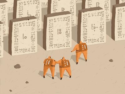 Ancient Tablets science sci fi science fiction astronauts space men travel glyphs runes hieroglyphics ancient tablets fun illustration exploration tablets space ancient