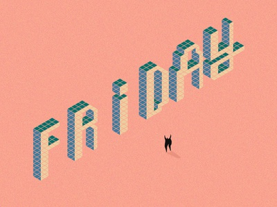 Friday humour people sheffield leeds miniatures friday 3d typography type isometric colour illustration