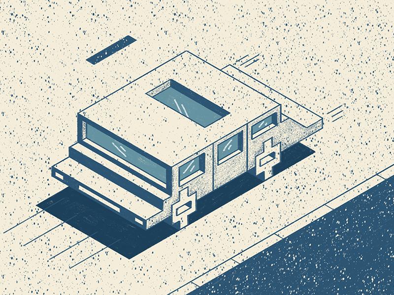 Cubes or Cars illustratie shiny procreate pattern texture angles vehicle car blue geometric cubes isometric illustration