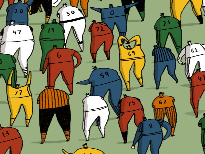[Cropped] Baseball Players  & MLB - For New York Times editorial illustration team players baseball cap editorial sports illustration sports mlb baseball new york times nyt illustration