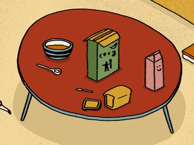 Breakfast, Bowl & Bread