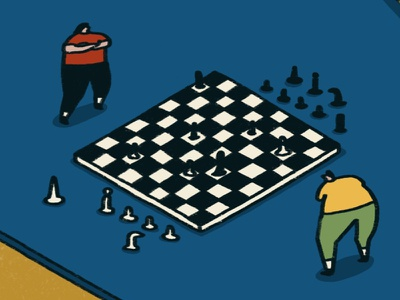 Chess chessboard board games mhm isometric fun real life illustration chess