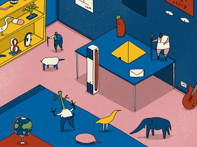 36 Days of Things in a Room Beginning with...E etc isometric explorer egypt ent earth elephant 36days-e 36 days of type things beginning with e e illustration