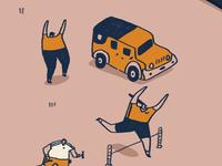 Jeep, Jog & Jump