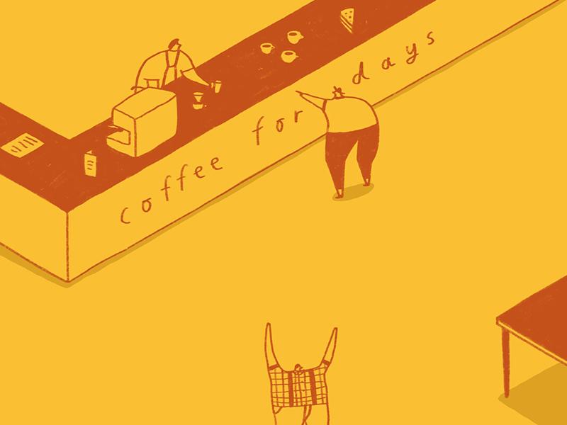 Kommune - Tampa Coffee. tampa coffee sheffield kommune illustration