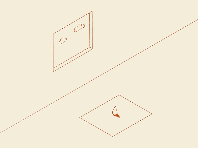 36 Days of Things in a Room Beginning with...P isometric minimal illustration fruit pears 36daysoftype things beginning with p priceless p pear