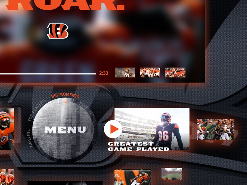 Bengals Kiosk Menu Closeup by Momentum | Dribbble | Dribbble
