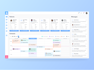 Concept of The Medical App concept minimal dashboard color medicine schedule patient healthcare app ui treatment health doctor medical
