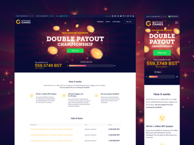BlockStamp Games Double Payout - Landing Page